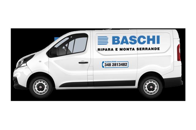 installazione serranda basculante e portone sezionale BASCHI assistenza